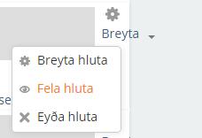 fela hluta/viku