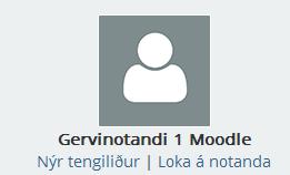 Nýr tengiliður