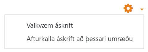 áskrift umræðu